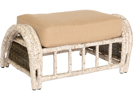 Whitecraft River Run Wicker Ottoman