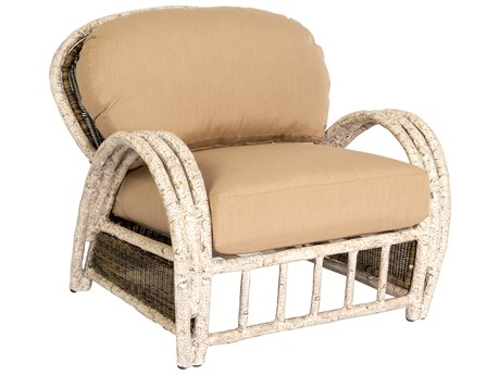 Woodard Whitecraft River Run Wicker Antique Palm Lounge Chair