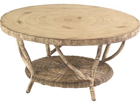 Whitecraft River Run 36 Round Faux Birch Top Coffee Table