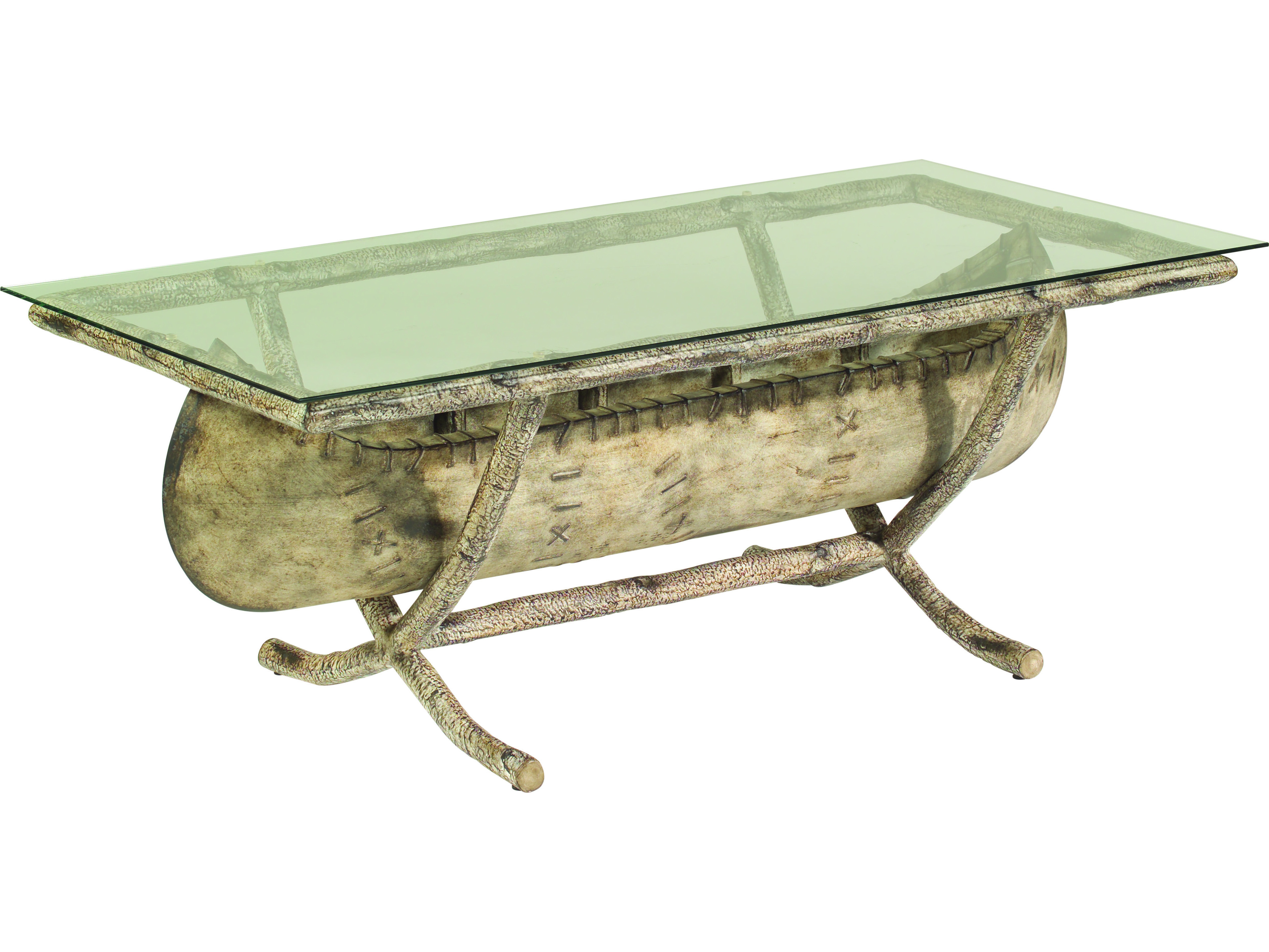 Whitecraft River Run Canoe 54 X 26 Rectangular Glass Top