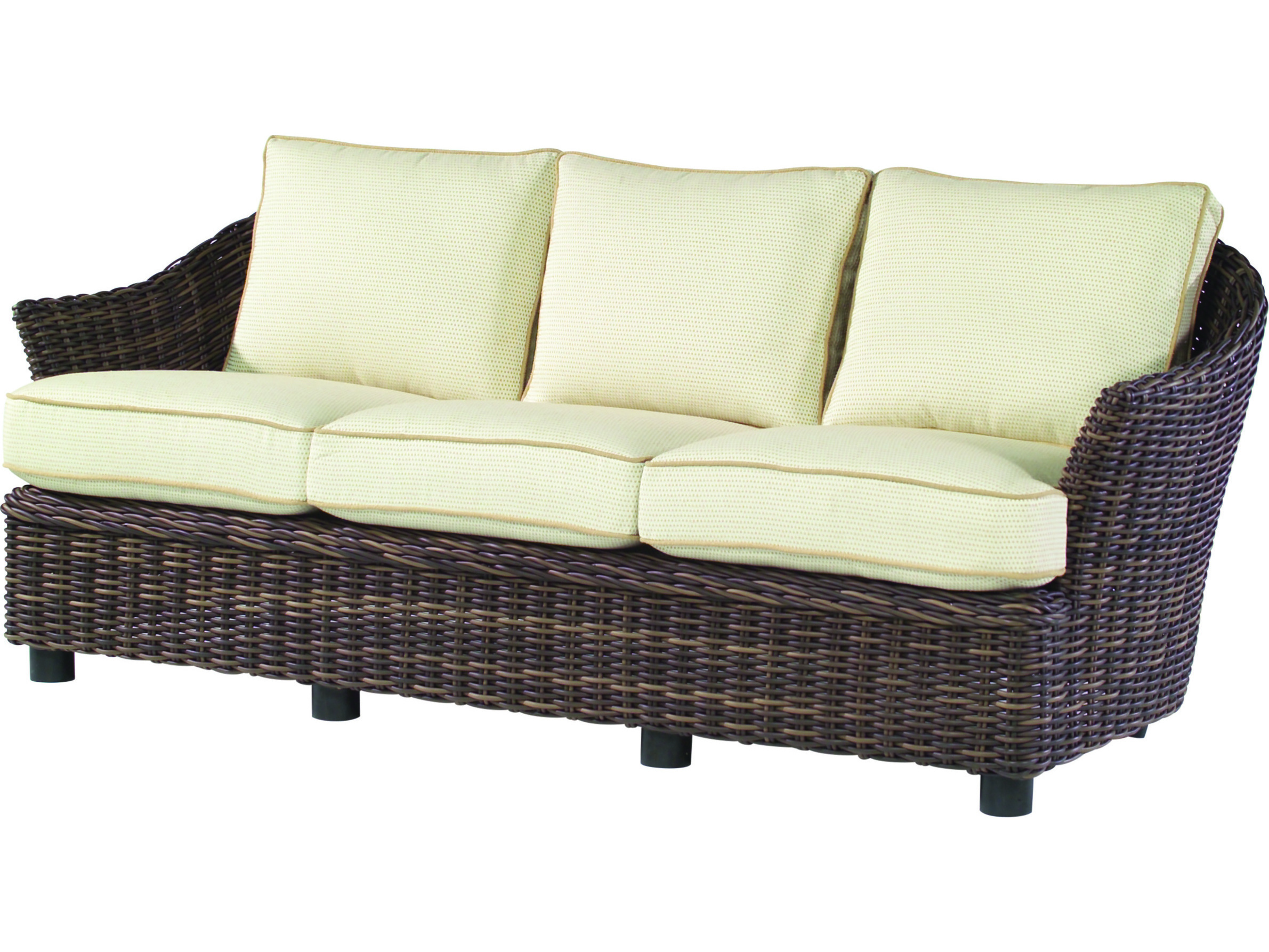 100 wicker settee replacement cushions patio furniture for Sofa exterior amazon