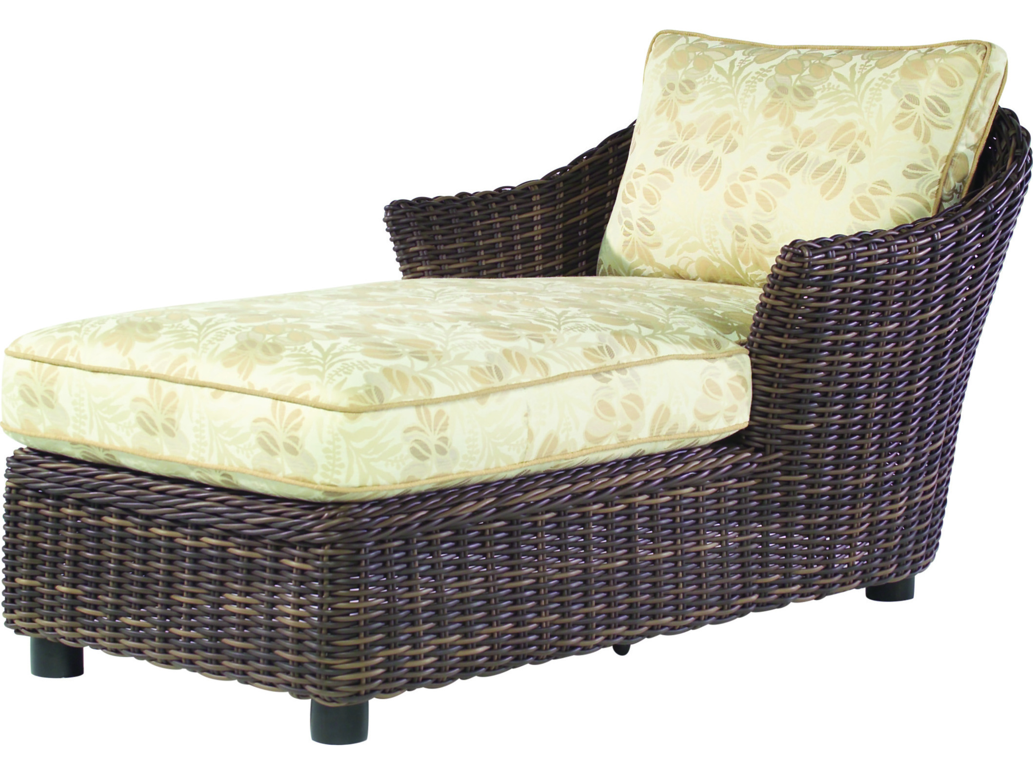 whitecraft sonoma wicker cushion chaise lounge s561041. Black Bedroom Furniture Sets. Home Design Ideas
