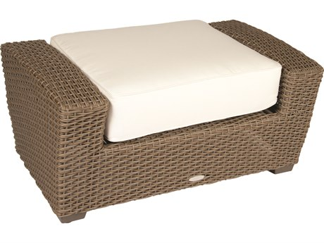 Whitecraft Augusta Wicker Ottoman
