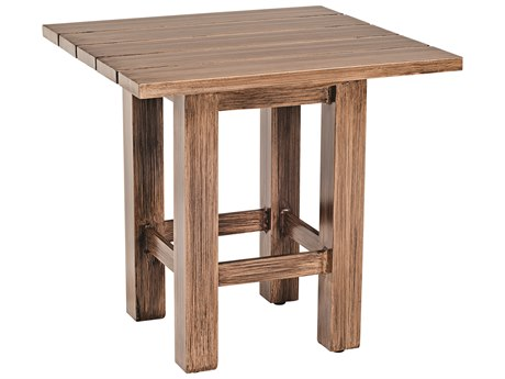 Whitecraft Augusta Aluminum Woodlands 24 Square End Table