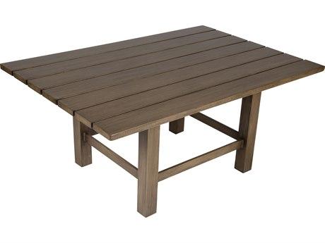 Whitecraft Augusta Aluminum Woodlands 48 x 33 Rectangular Coffee Table