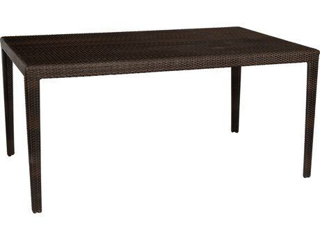 Whitecraft All Weather Wicker Miami 63 x 39 Rectangular Dining Table