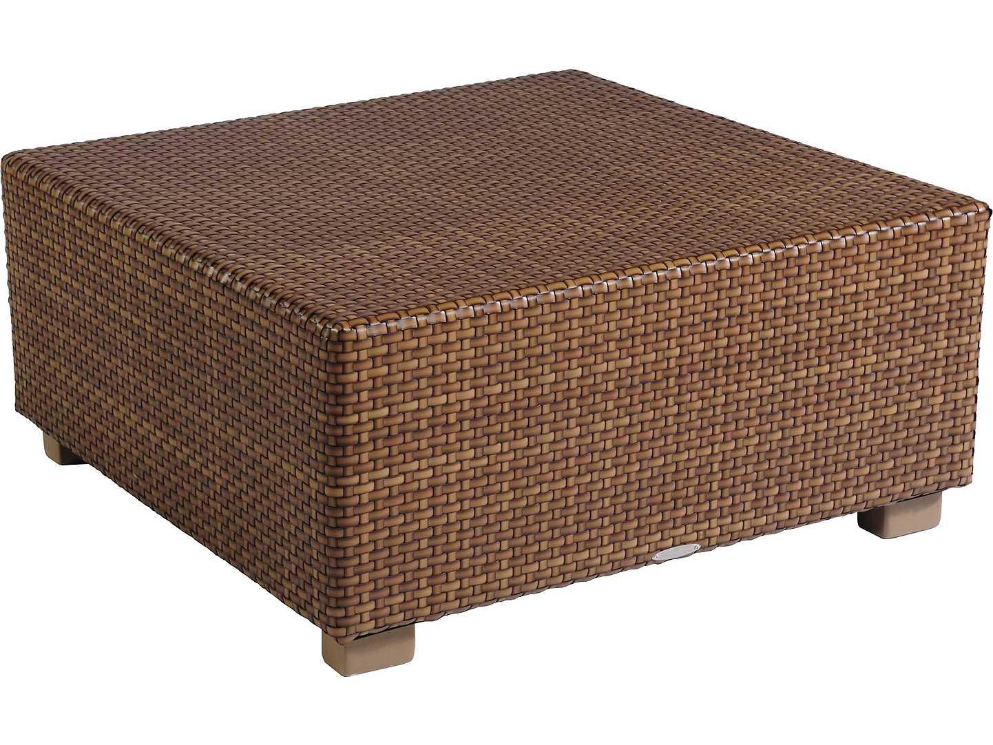 Whitecraft Sedona Wicker 36 Square Coffee Table S631211