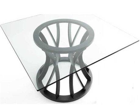 Yumanmod Doylan Oak & Clear Glass Dining Table