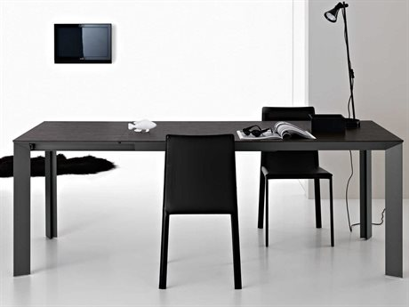 YumanMod Metropolis Dark Gray Rectangular Extendable Dining Table