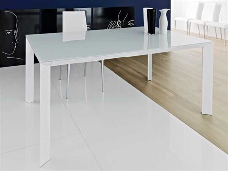 YumanMod Metropolis White Rectangular Extendable Dining Table