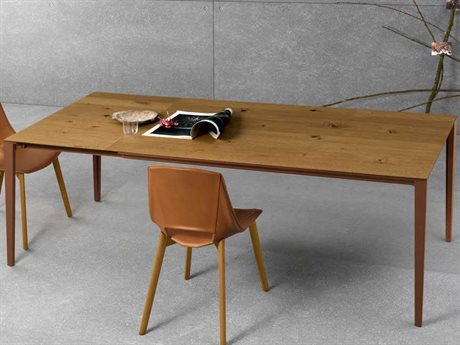 YumanMod Zen Brown Rectangular Extendable Dining Table