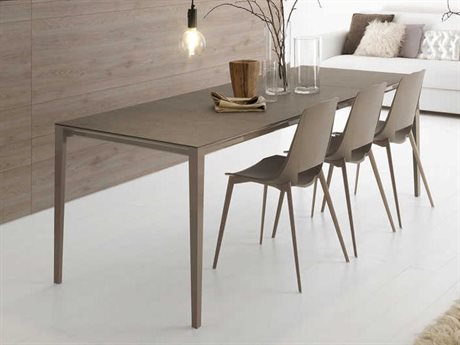 YumanMod Zen Gray Clay & Brown Rectangular Extendable Dining Table