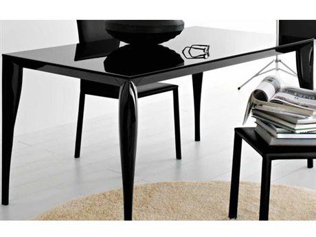 Yumanmod Martin Black Extendable Rectangular Dining Table