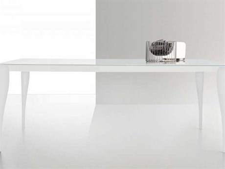 Yumanmod Martin White Extendable Rectangular Dining Table