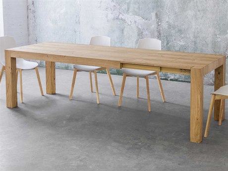 Yumanmod Tilly Natural Oak Veneer Extendable Rectangular Dining Table