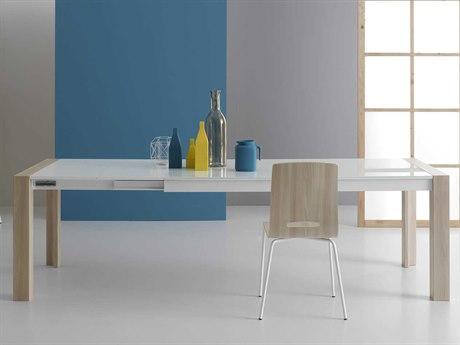 Yumanmod Mole Light Elm & White Extendable Rectangular Dining Table