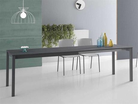 Yumanmod Judy Mat Graphite Epoxy Extendable Rectangular Dining Table