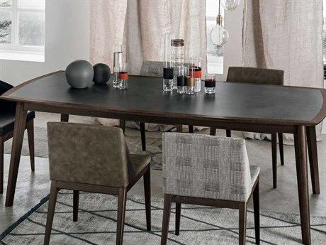 Yumanmod Bloom Heat-Treated Oak Veneer - Stoneware 86.6'' x 43.3'' Rectangular Dining Table