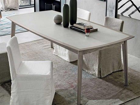 Yumanmod Bloom Ash-Grey Veneer - Stoneware 86.6'' x 43.3'' Rectangular Dining Table