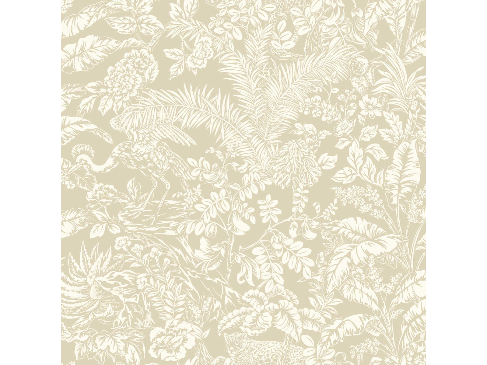 York Wallcoverings Outdoors In Beige Botanical Sanctuary