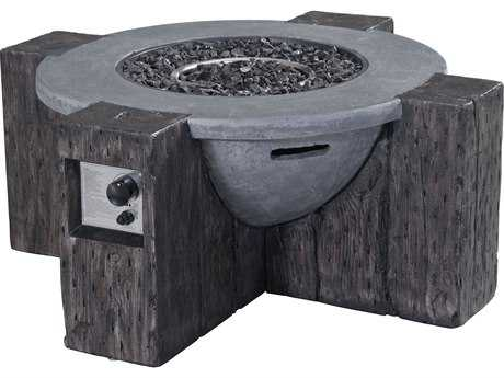 Zuo Outdoor Hades 42.3 Round Propane Fire Pit in Gray