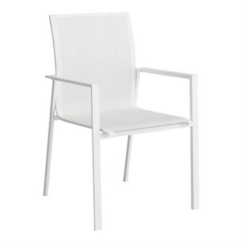 Zuo Outdoor Mayakoba Aluminum Mesh Dining Arm Chair in White Set of Four
