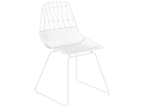 Zuo Outdoor Brody White Steel Dining Side Chair - Sold in Multiples of 2 Only