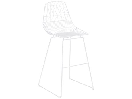 Zuo Outdoor Brody White Steel Bar Chair - Sold in Multiples of 2 Only