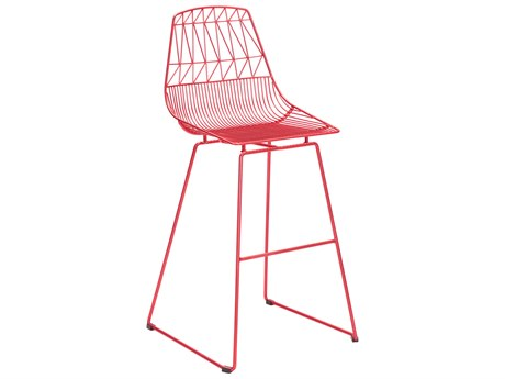 Zuo Outdoor Brody Red Steel Bar Chair