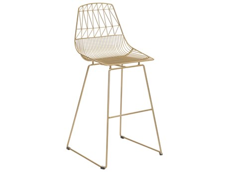 Zuo Outdoor Brody Gold Steel Bar Chair