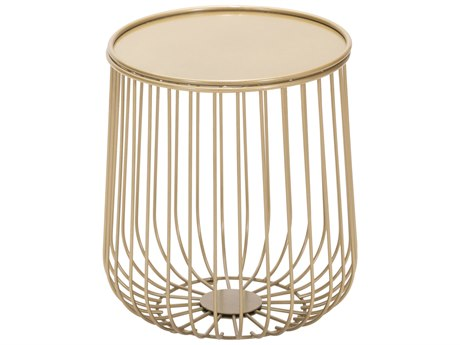 Zuo Outdoor Gilbert Gold Steel 14.4''Wide Round Side Table
