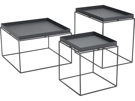 Zuo Outdoor Gaia Black Steel Nesting Tables