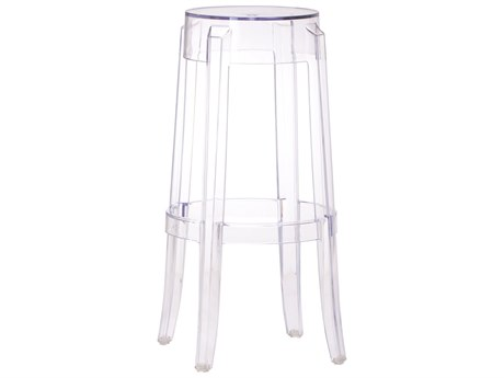 Zuo Outdoor Anime Polycarbonate Barstool Transparent PatioLiving
