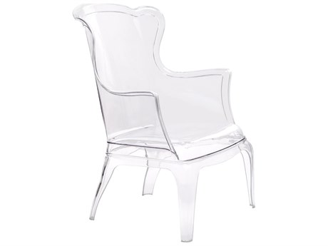 Zuo Outdoor Vision Polycarbonate Chair Transparent PatioLiving