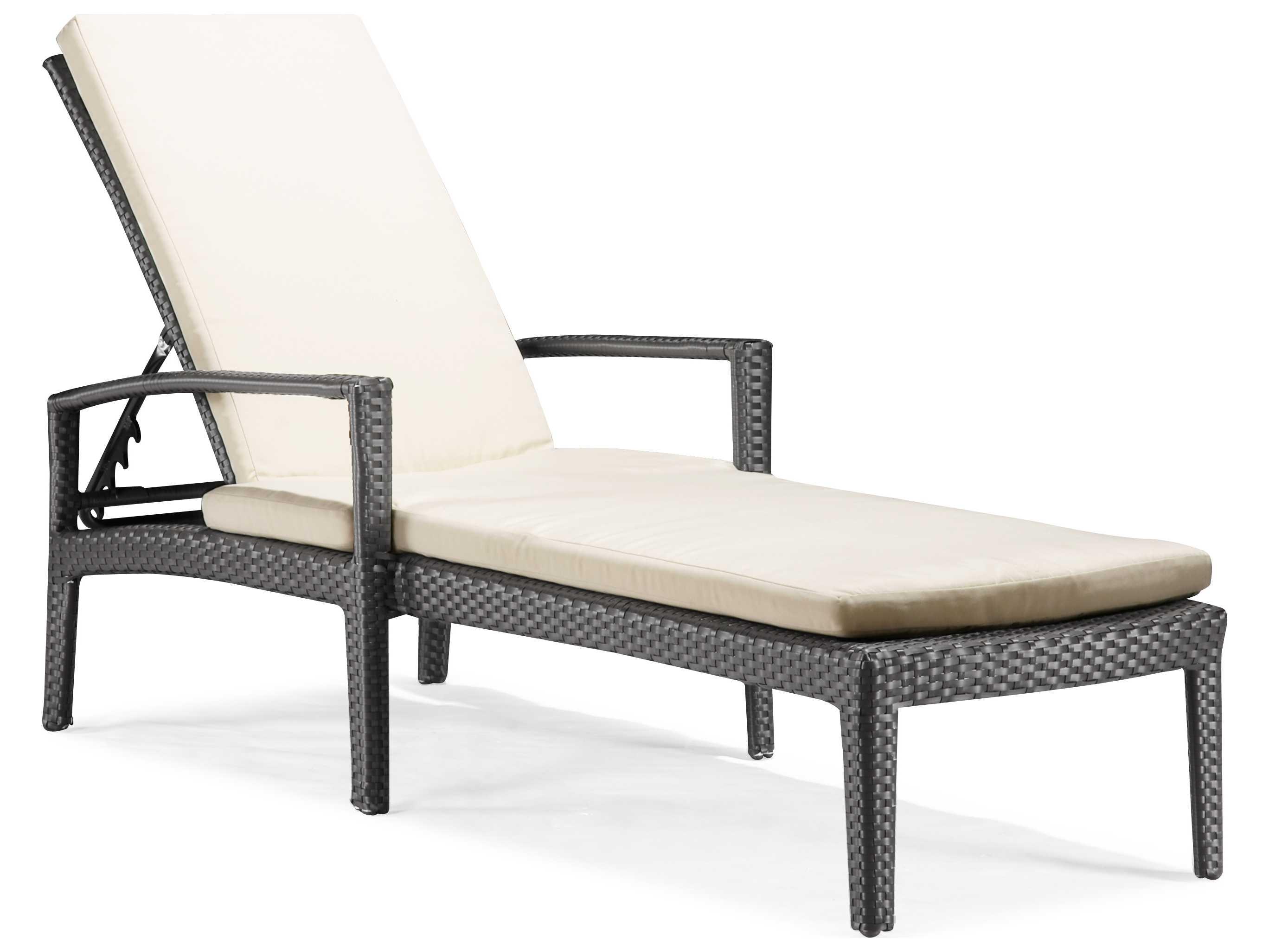 zuo outdoor phuket wicker chaise lounge zd701137