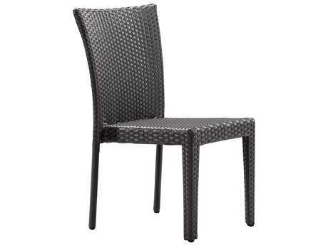Zuo Outdoor Arica Aluminum Wicker Chair in Espresso (Sold in 2)