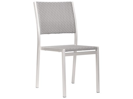 Zuo Outdoor Metropolitan Aluminum Polyurethane Dining Armless Chair Set of Two PatioLiving
