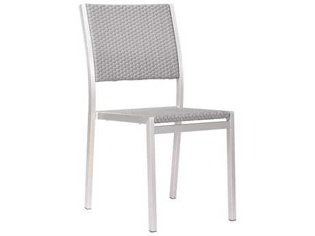 Zuo Outdoor Metropolitan Aluminum Polyurethane Dining Armless Chair (Sold in 2)