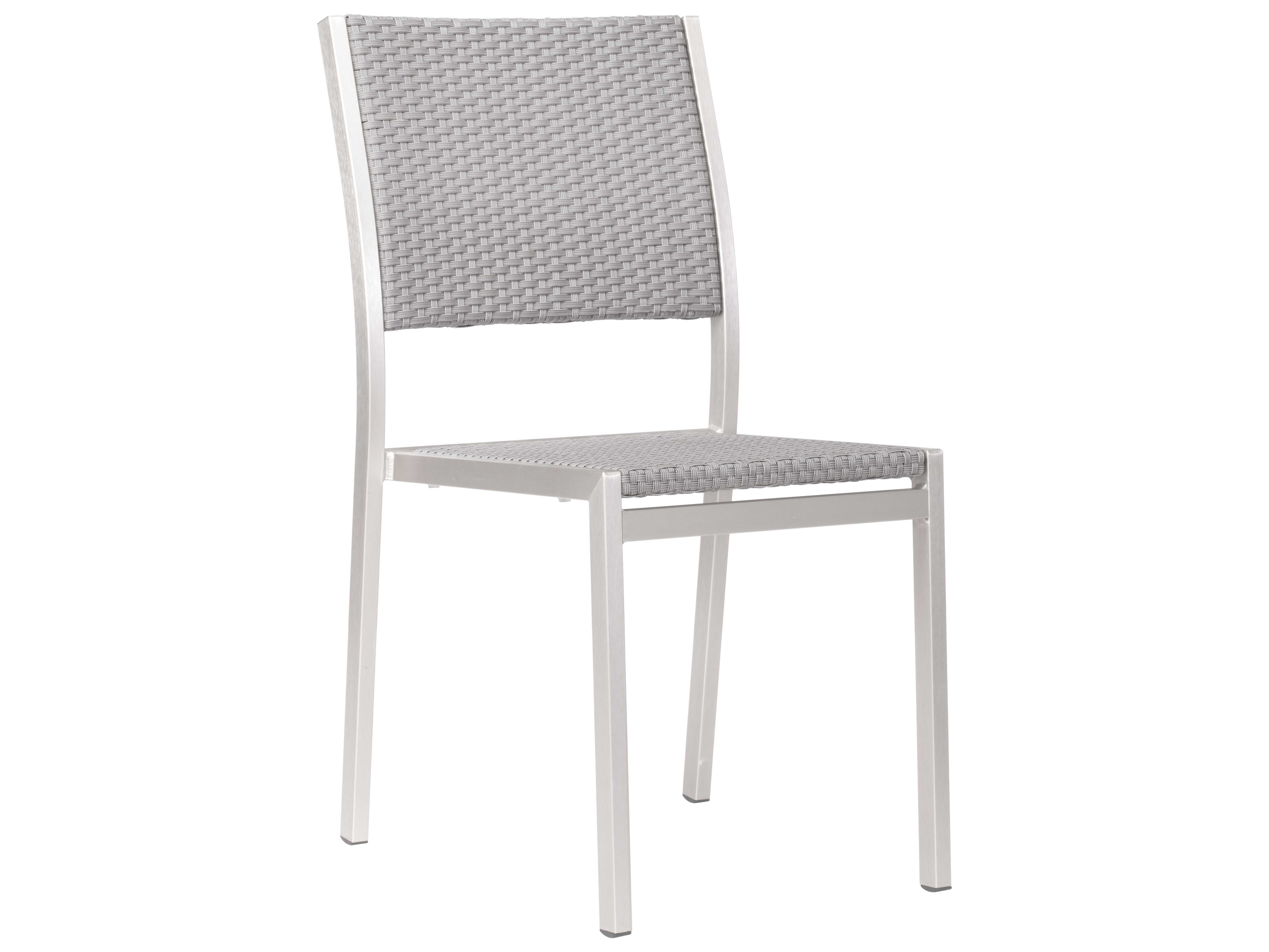 Marvelous Zuo Outdoor Metropolitan Aluminum Polyurethane Dining Armless Chair Sold In 2 Bralicious Painted Fabric Chair Ideas Braliciousco