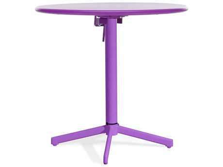 Zuo Outdoor Big Wave Steel 29.9 Round Folding Table in Purple