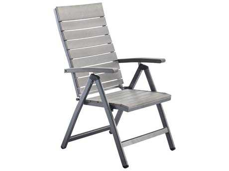 Zuo Outdoor Polestar Adjustable Aluminum Chair in Slate Gray