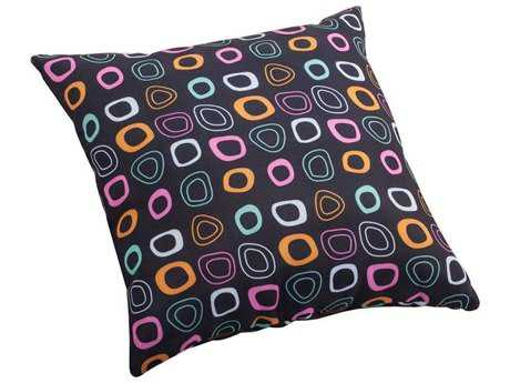 Zuo Outdoor Kitten Small Outdoor Pillow in Chocolate Base And Multicolor Pattern