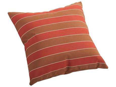 Zuo Outdoor Joey Small Outdoor Pillow in Brown And Clay Wide Stripe