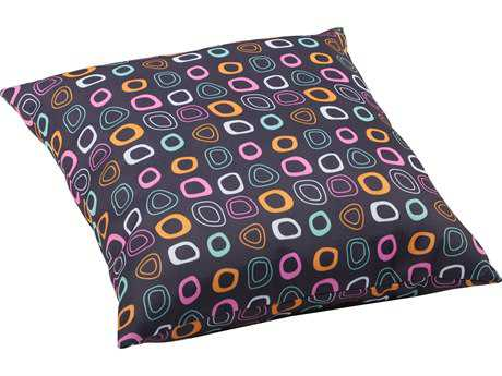 Zuo Outdoor Kitten Large Outdoor Pillow in Chocolate Base And Multicolor Pattern