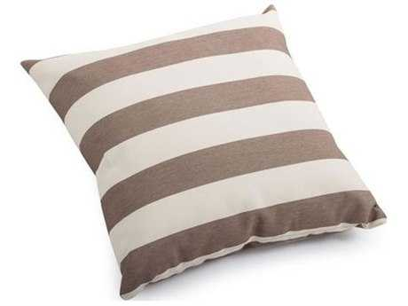 Zuo Outdoor Pony Large Outdoor Pillow in Beige and Brown Stripe