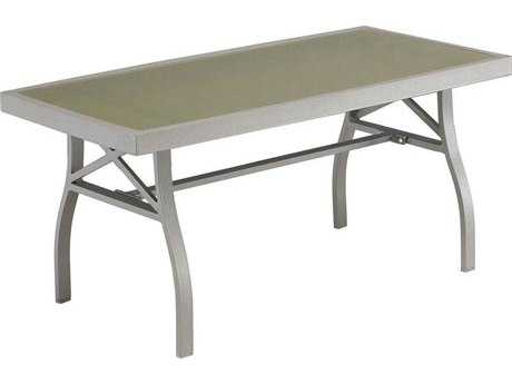 Zuo Outdoor Grand Beach 35.4 x 18.9 Aluminum Coffee Table in Grey
