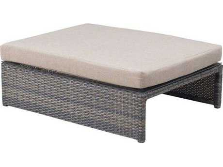 Zuo Outdoor Delray Wicker Ottoman / Coffee Table in Espresso