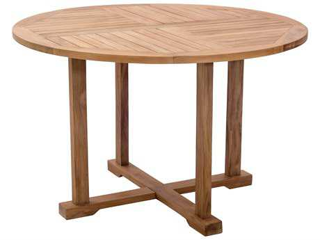 Zuo Outdoor Regatta Teak 47 Round Dining Table in Natural
