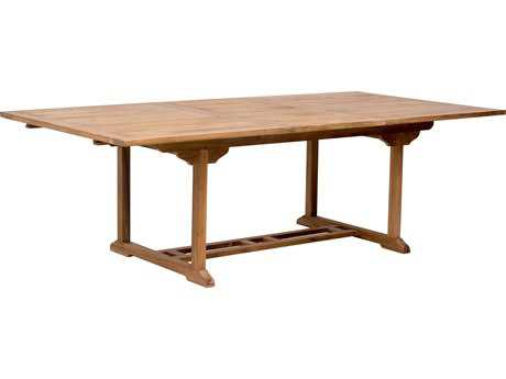 Zuo Outdoor Regatta Teak 70.9 x 47 Rectangular Extension Dining Table in Natural