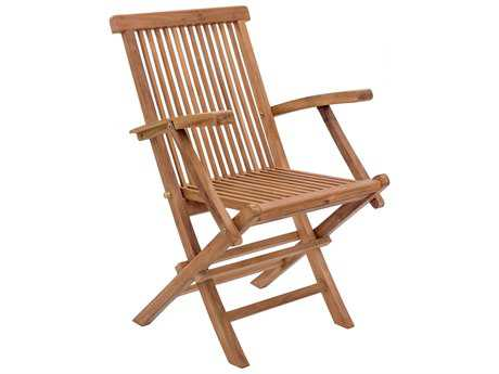 Zuo Outdoor Regatta Teak Folding Arm Chair in Natural (Sold in 2)